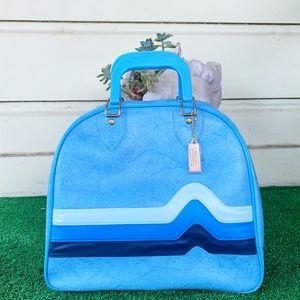 Vintage Brunswick Don Carter Blue Wave Bowling Bag